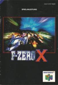 F-Zero X Spielanleitung cover